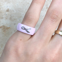 Load image into Gallery viewer, Pink Ceramic Breast Cancer Awareness Ribbon Ring, Pink Ceramic Breast Cancer Awareness Ribbon Ring - Legacy Saint Jewelry