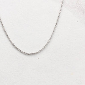 10KT White Gold Cable Rope Chain Necklace .5mm, 10KT White Gold Cable Rope Chain Necklace .5mm - Legacy Saint Jewelry