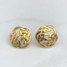 Load image into Gallery viewer, 14KT Yellow Gold Trinity Celtic Knot Post Earring, 14KT Yellow Gold Trinity Celtic Knot Post Earring - Legacy Saint Jewelry