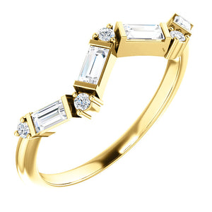 14KT Yellow Gold Diamond Baguette Ring, 14KT Yellow Gold Diamond Baguette Ring - Legacy Saint Jewelry