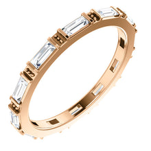 Load image into Gallery viewer, 14KT Rose Gold Baguette Diamond Eternity Band Ring, 14KT Rose Gold Baguette Diamond Eternity Band Ring - Legacy Saint Jewelry