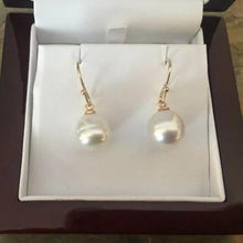 Load image into Gallery viewer, 14KT Yellow Gold Paspaley Pearl Shepard Hook Earrings 12mm, 14KT Yellow Gold Paspaley Pearl Shepard Hook Earrings 12mm - Legacy Saint Jewelry