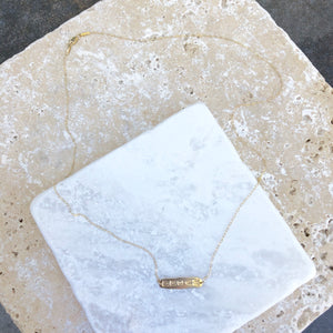 14KT Yellow Gold Dream Plate Necklace, 14KT Yellow Gold Dream Plate Necklace - Legacy Saint Jewelry