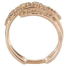 Load image into Gallery viewer, 14KT Rose Gold Pave Fancy Cognac Diamond Ring, 14KT Rose Gold Pave Fancy Cognac Diamond Ring - Legacy Saint Jewelry