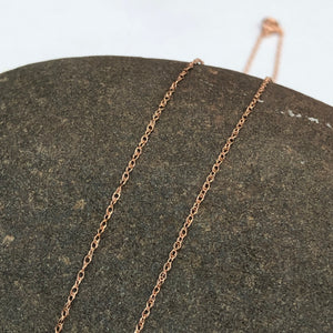 10KT Rose Gold Cable Rope Chain Necklace .50mm, 10KT Rose Gold Cable Rope Chain Necklace .50mm - Legacy Saint Jewelry