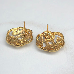14KT Yellow Gold Trinity Celtic Knot Post Earring, 14KT Yellow Gold Trinity Celtic Knot Post Earring - Legacy Saint Jewelry