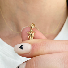 Load image into Gallery viewer, 14KT Yellow Gold Small Guardian Angel Pendant Charm