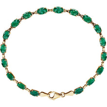 Load image into Gallery viewer, 14KT Yellow Gold Emerald Link Bracelet, 14KT Yellow Gold Emerald Link Bracelet - Legacy Saint Jewelry