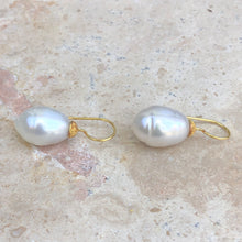 Load image into Gallery viewer, 14KT Yellow Gold Paspaley South Sea Pearl Shepard Hook Earring, 14KT Yellow Gold Paspaley South Sea Pearl Shepard Hook Earring - Legacy Saint Jewelry
