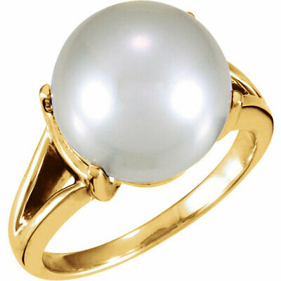 14KT Yellow Gold Genuine Paspaley South Sea Pearl Ring, 14KT Yellow Gold Genuine Paspaley South Sea Pearl Ring - Legacy Saint Jewelry