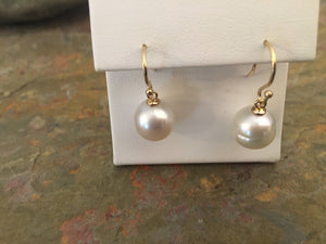 14KT Yellow Gold 12mm Genuine Paspaley South Sea Pearl Drop Earrings, 14KT Yellow Gold 12mm Genuine Paspaley South Sea Pearl Drop Earrings - Legacy Saint Jewelry