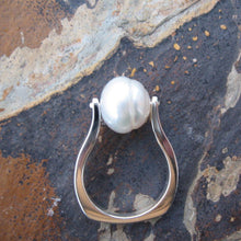 Load image into Gallery viewer, Sterling Silver + Genuine 12mm Paspaley South Sea Pearl Ring - Legacy Saint Jewelry