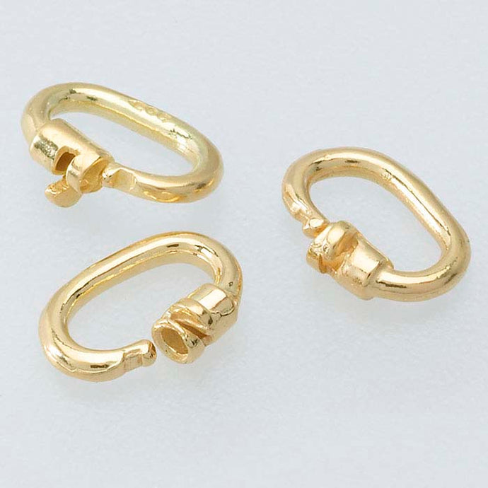 14KT Yellow Gold Link Lock Clip-On Enhancer Bail, 14KT Yellow Gold Link Lock Clip-On Enhancer Bail - Legacy Saint Jewelry