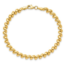 Load image into Gallery viewer, 14KT Yellow Gold Polished 4.95mm San Marco Bracelet