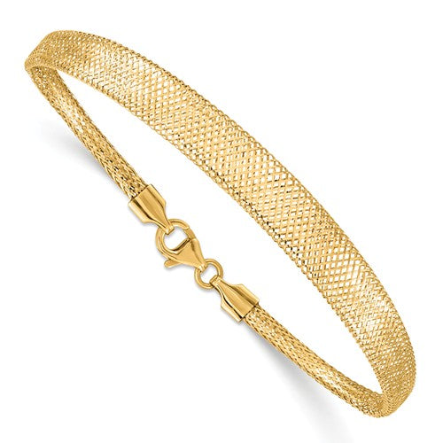 14KT Yellow Gold Graduated Mesh Bracelet, 14KT Yellow Gold Graduated Mesh Bracelet - Legacy Saint Jewelry
