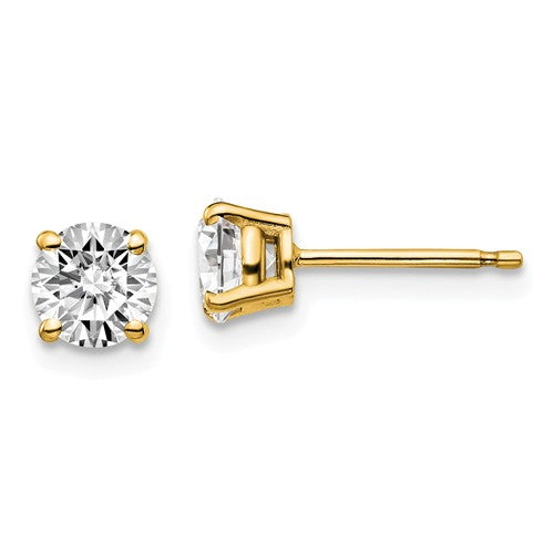 14KT Yellow Gold 1 CTW Lab Diamond 4 Prong Stud Earrings, 14KT Yellow Gold 1 CTW Lab Diamond 4 Prong Stud Earrings - Legacy Saint Jewelry