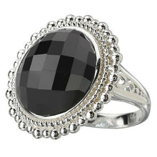 Load image into Gallery viewer, Sterling Silver Genuine Onyx Beaded Ring, Sterling Silver Genuine Onyx Beaded Ring - Legacy Saint Jewelry
