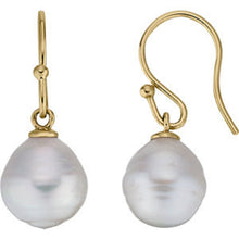 Load image into Gallery viewer, 14KT Yellow Gold Paspaley Pearl Shepard Hook Earrings 14mm, 14KT Yellow Gold Paspaley Pearl Shepard Hook Earrings 14mm - Legacy Saint Jewelry