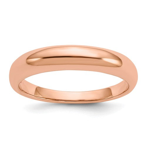 14KT Rose Gold Polished Domed Band Ring 4mm, 14KT Rose Gold Polished Domed Band Ring 4mm - Legacy Saint Jewelry