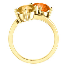 Load image into Gallery viewer, 14KT Yellow Gold Honey Topaz + Poppy Topaz Ring, 14KT Yellow Gold Honey Topaz + Poppy Topaz Ring - Legacy Saint Jewelry