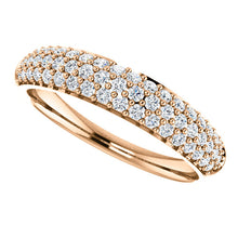 Load image into Gallery viewer, 14KT Rose Gold Pave Diamond Anniversary Band Ring, 14KT Rose Gold Pave Diamond Anniversary Band Ring - Legacy Saint Jewelry