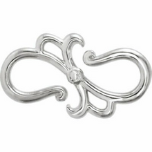 Load image into Gallery viewer, Sterling Silver Stylized S-Hook Extender Clasp, Sterling Silver Stylized S-Hook Extender Clasp - Legacy Saint Jewelry