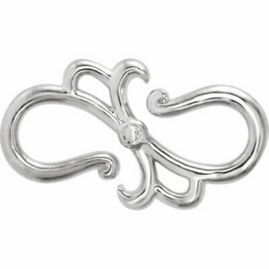Sterling Silver Stylized S-Hook Extender Clasp, Sterling Silver Stylized S-Hook Extender Clasp - Legacy Saint Jewelry