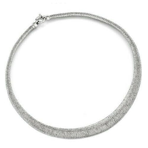 "Sterling Silver Textured Ring Collar Necklace 18"", Sterling Silver Textured Ring Collar Necklace 18"" - Legacy Saint Jewelry"