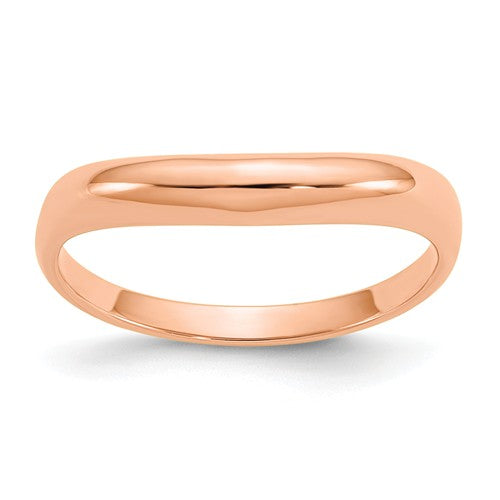 14KT Rose Gold Polished Wave Band Ring, 14KT Rose Gold Polished Wave Band Ring - Legacy Saint Jewelry