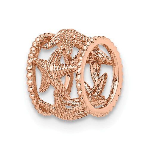 14KT Rose Gold Starfish Pendant Slide, 14KT Rose Gold Starfish Pendant Slide - Legacy Saint Jewelry