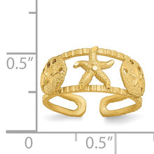 Load image into Gallery viewer, 14KT Yellow Gold Starfish Toe Ring, 14KT Yellow Gold Starfish Toe Ring - Legacy Saint Jewelry