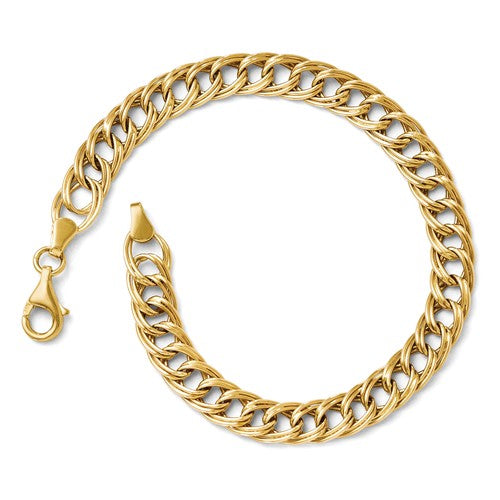 14KT Yellow Gold Gold Twisted Fancy Link Bracelet, 14KT Yellow Gold Gold Twisted Fancy Link Bracelet - Legacy Saint Jewelry