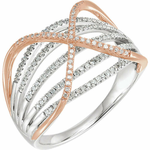 14KT White Gold + Rose Gold Pave Diamond Cigar Band Ring, 14KT White Gold + Rose Gold Pave Diamond Cigar Band Ring - Legacy Saint Jewelry