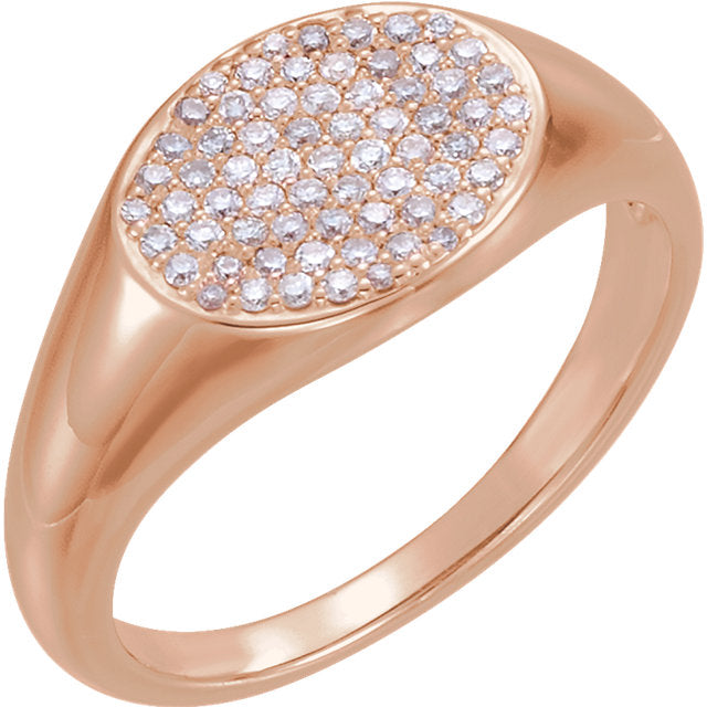14KT Rose Gold Pave Diamond Ring, 14KT Rose Gold Pave Diamond Ring - Legacy Saint Jewelry