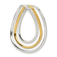 Load image into Gallery viewer, Sterling Silver + Gold Vermeil Loops Pendant, Sterling Silver + Gold Vermeil Loops Pendant - Legacy Saint Jewelry