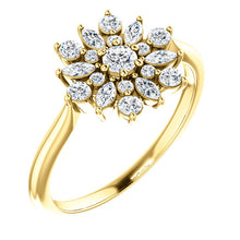 Load image into Gallery viewer, 14KT Yellow Gold Diamond Vintage-Inspired Ring, 14KT Yellow Gold Diamond Vintage-Inspired Ring - Legacy Saint Jewelry
