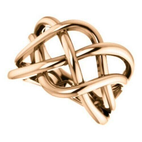 14KT Rose Gold Polished Artistic Weave Ring, 14KT Rose Gold Polished Artistic Weave Ring - Legacy Saint Jewelry