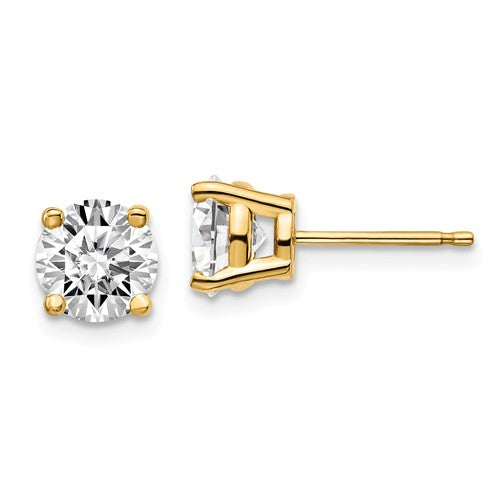 14KT Yellow Gold 2 CTW Lab Diamond 4 Prong Stud Earrings, 14KT Yellow Gold 2 CTW Lab Diamond 4 Prong Stud Earrings - Legacy Saint Jewelry