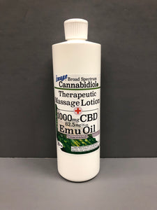 CBD Massage Lotion with EMU Oil