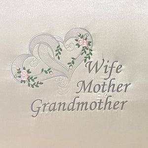 Wife Mother Grandmother - Pink Hearts