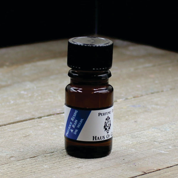 Precious Resins and Rain Vegan Perfume Oil 5ml Bottle