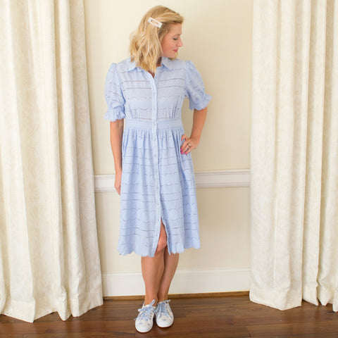 Aida Shirtdress - blue