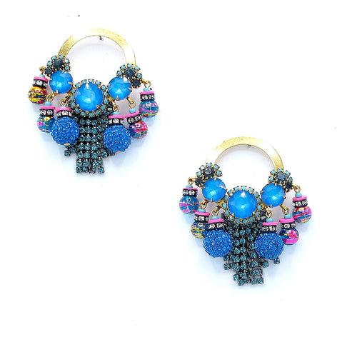Callie Earring - pink blue