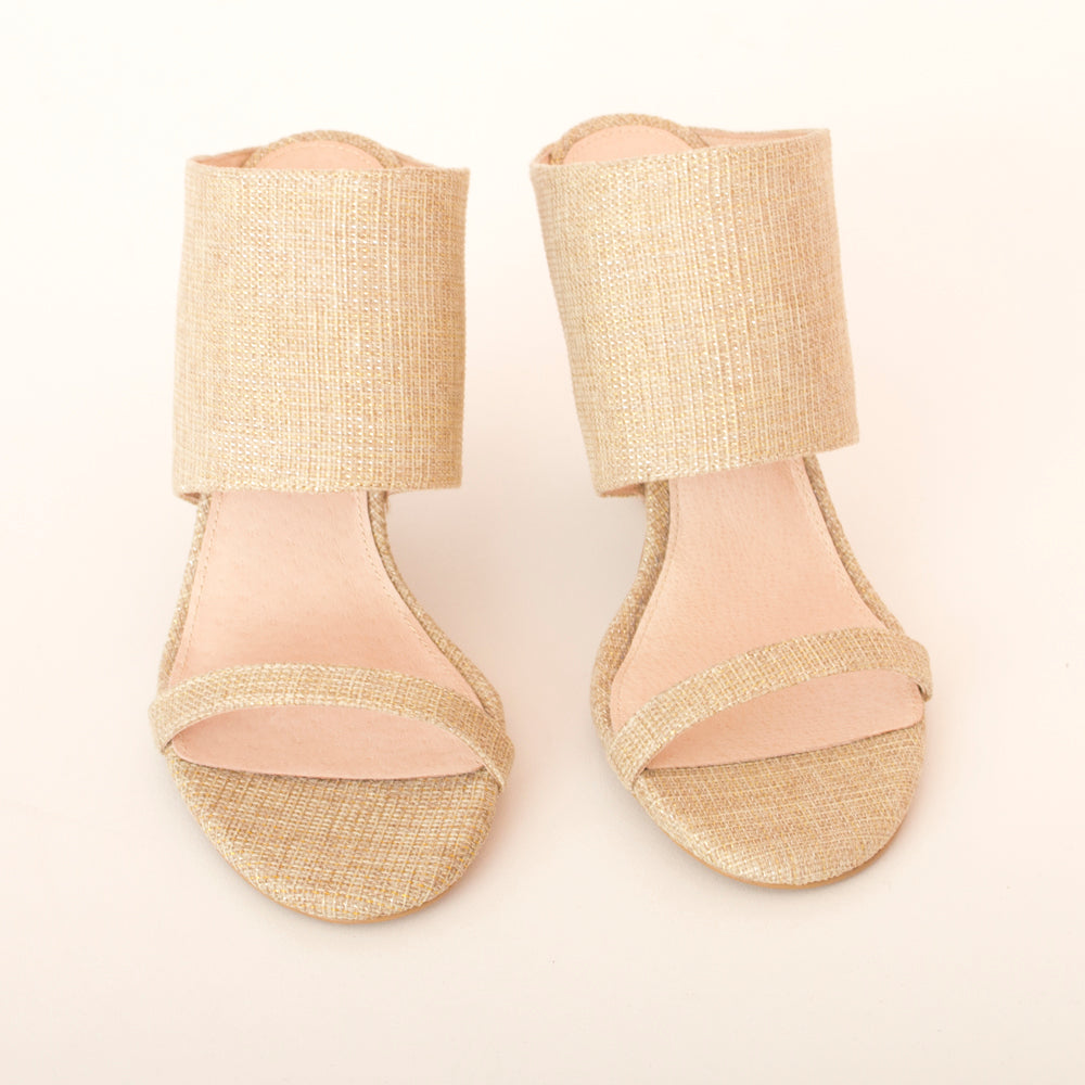 Aiden Wedge - gold canvas