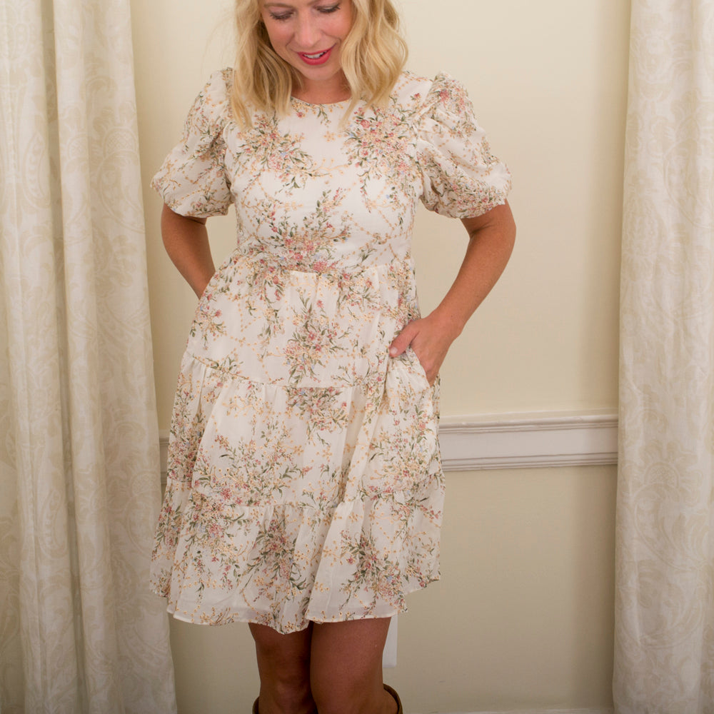 Floral Tier Babydoll Dress