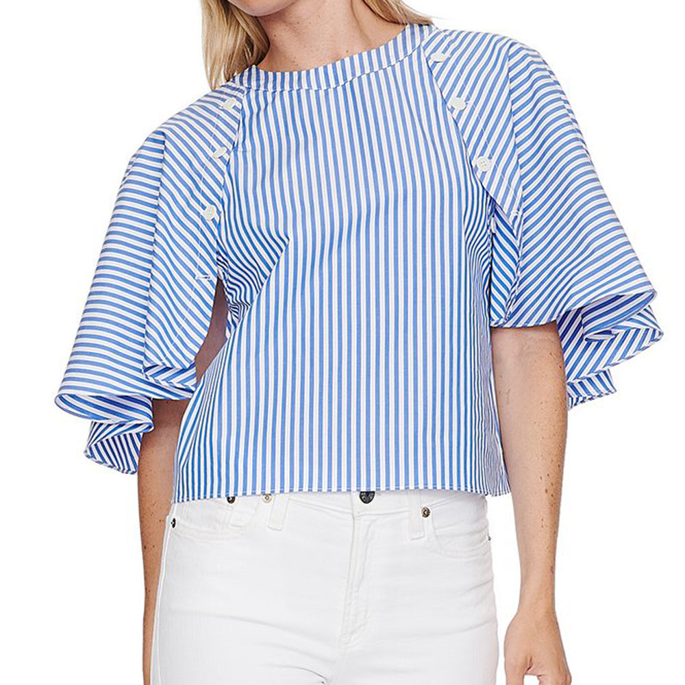 mds stripes capelet top