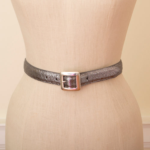 silver crackle belt