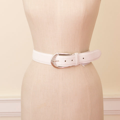 Crackled Satin Leather Belt