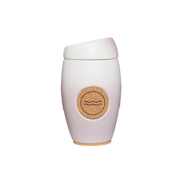 Oblo cup, ceramic reusable coffee cup, Alma colour