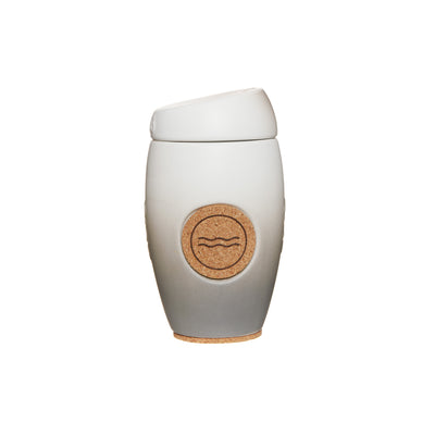 Oblo cup, ceramic reusable coffee cup, Nube colour